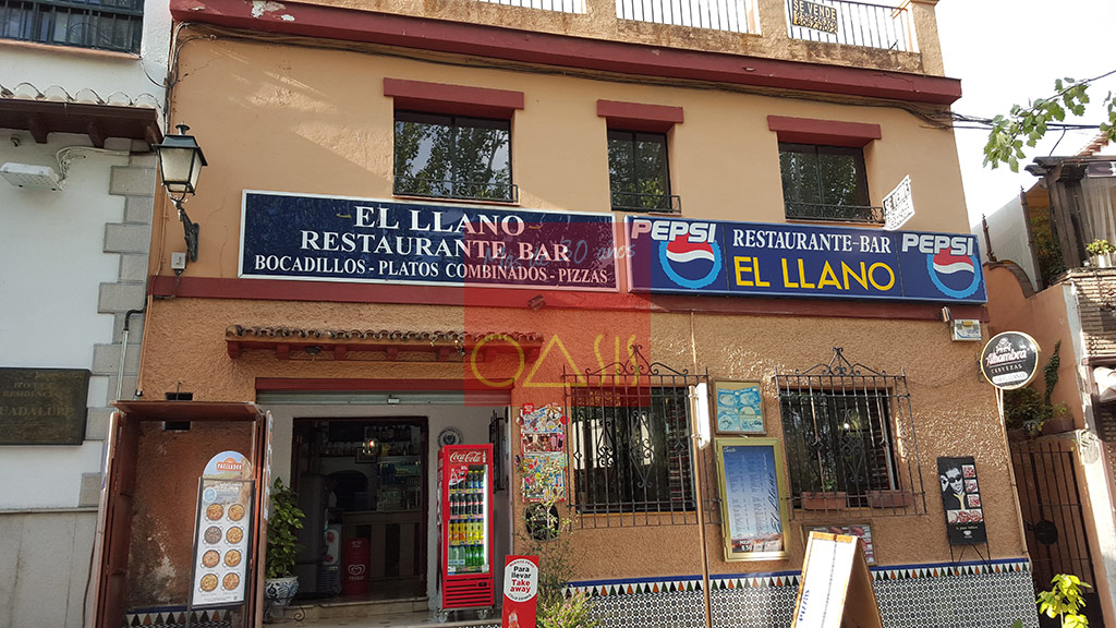 Excellent oportunity for investment near the entrance of the Alhambra - The restaurant front
