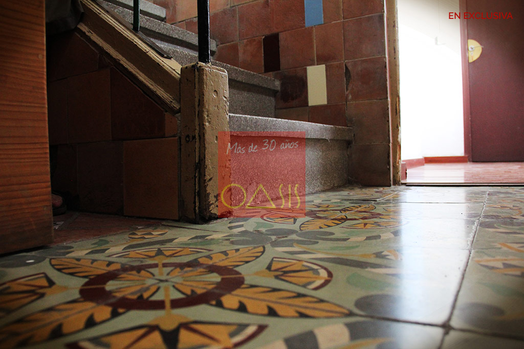 Original tiled floors
